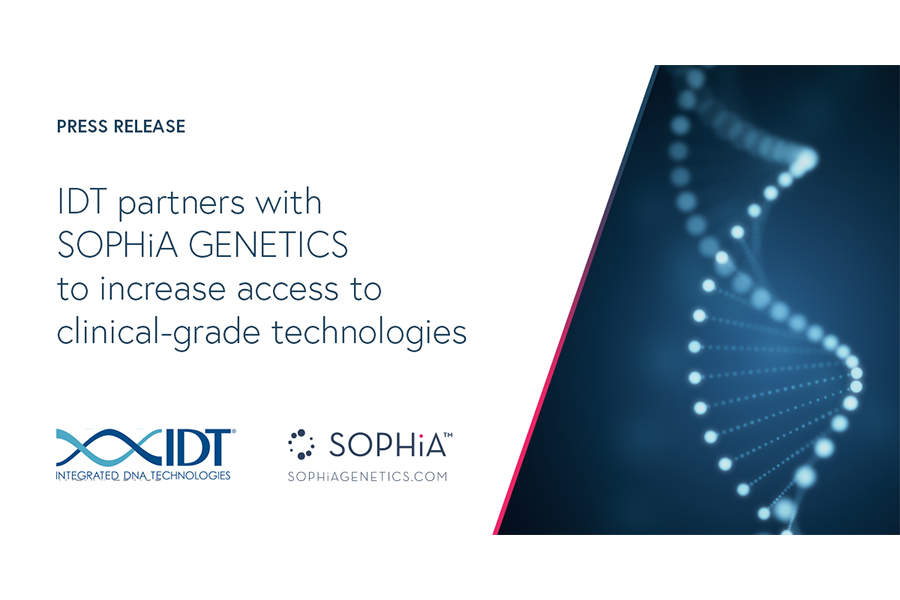 IDT partners with SOPHiA GENETICS