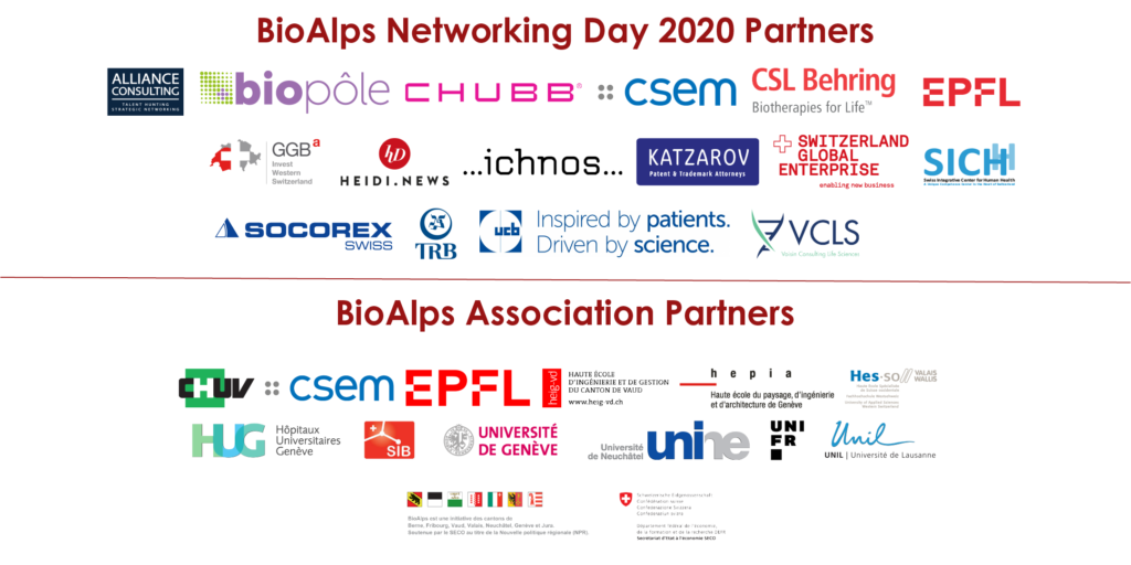 BioAlps Networking Day 2020 Partners