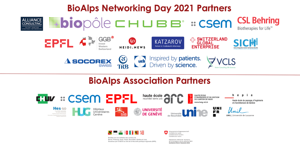 BioAlps Networking Day 2021 Partners
